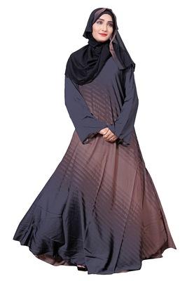 Multi Color Printed Nida Abaya Burkha With Hijab Dupatta For Women