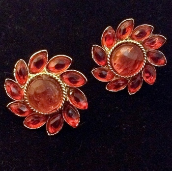 Traditional south INDIA Stone Kundan bollywood studs set in golden base