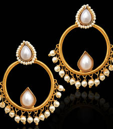 Tear Drop Bali Baali Indian Bollywood Golden Earrings