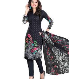 Buy Black fancy Crepe unstitched salwar with dupatta women-ethnic-wear online