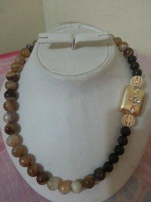 Brown pearl mala