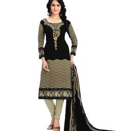 Black fancy Crepe unstitched salwar with dupatta
