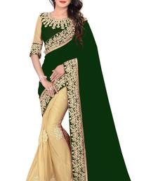 Buy Green embroidered georgette saree with blouse women-ethnic-wear online
