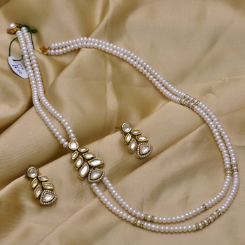 White Pearl Necklace Sets Hyderabad Jewels 2717800