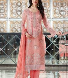 Buy Pink embroidered silk salwar with dupatta semi-stitched-salwar-suit online