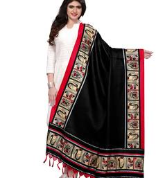 Black Color Bhagalpuri Printed Women's Dupatta