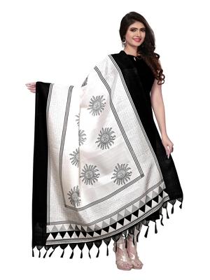 Black Color Bhagalpuri Printed Women's Dupatta