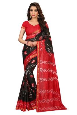 Black bandhani saree with blouse