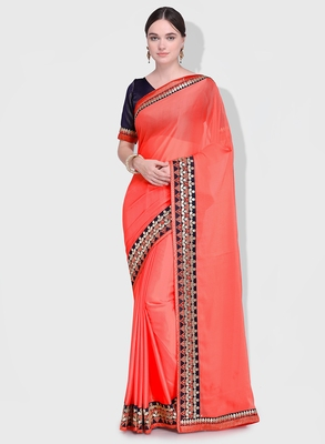 ac4e2a5eb2 Pink Embroidered Two Tone Chiffon Pattern Saree With Blouse - Indian Women  Fashions Pvt Ltd - 2718816