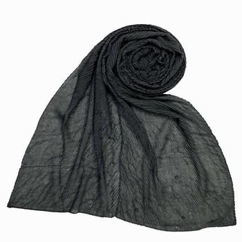 Grey Premium Crush Diamond Islamic Hijab Headscarf