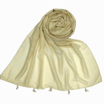 White Most Sold Plain Grid Islamic Hijab Headscarf