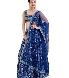 Buy Blue Embroidered Lehenga choli with Dupatta women-ethnic-wear online