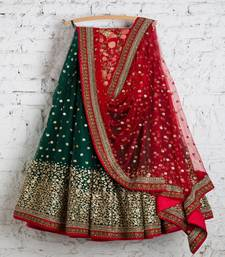 Buy Green Georgette Embroidered lehenga Choli with Dupatta women-ethnic-wear online