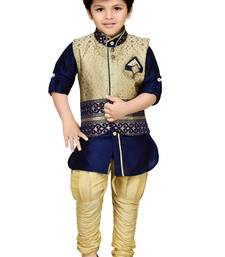 Buy Kids Partywear Kurta Pyjama and Waistcoat Set women-ethnic-wear online