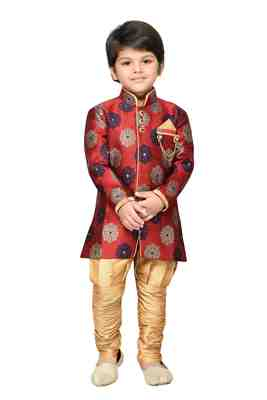 Kids Sherwani and Pyjama Set
