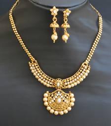 Buy Gold Tone Short necklace set jewellery-below-500 online