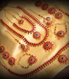 Buy Beautiful Pink-Green Designer Bridal Set Dj19395 bridal-set online