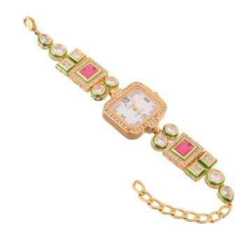 red ruby kundan wedding stylish watch