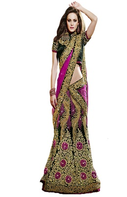 Multicolor Velvet And Dupatta Net Patch Work And Stone Work Unstitched Lehenga Choli
