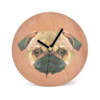 Poly Canine Wooden 2 in 1 Table cum Wall Clock by Engrave