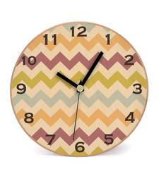 Buy Modern Chevron PostWooden 2 in 1 Table cum Wall Clock by Engrave wall-clock online