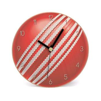 Red Cherry Wooden 2 in 1 Table cum Wall Clock by Engrave