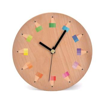 Sharp Wooden 2 in 1 Table cum Wall Clock by Engrave