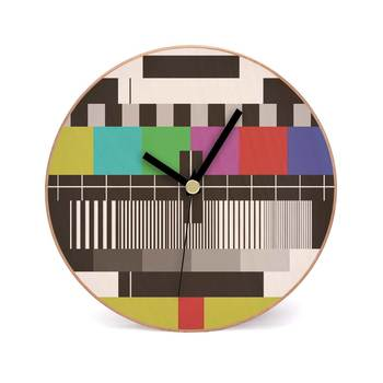 Test Card Wooden 2 in 1 Table cum Wall Clock by Engrave