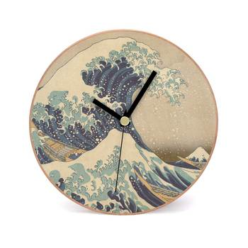 Buy The Great Wave Off Kanagawa Wooden 2 In 1 Table Cum Wall Clock