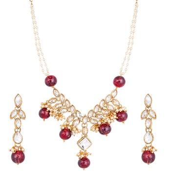 Maroon diamond necklaces