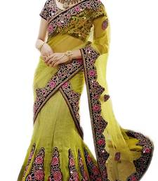 Buy multicolor Net and Brocade and Dupatta-Net Embroidered and Stone Work unstitched lehenga-choli lehenga-choli online