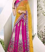Buy multicolor Art silk and  Dupatta-Net Patch Work and Stone Work and Zari work unstitched lehenga-choli