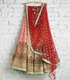 Buy Peach georgette embroidered lehenga choli with dupatta women-ethnic-wear online