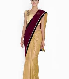 Buy Chhabra 555  Burgundy Embellished velvet Half and Half saree with blouse great-indian-saree-festival online