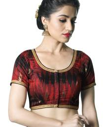 Buy Women's Maroon color Ikat Silk Readymade Blouse readymade-blouse online