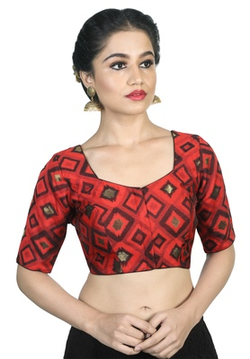 28a5dc0400bc6d Women's Red color Cotton Readymade Blouse - Om Clothing - 2724924