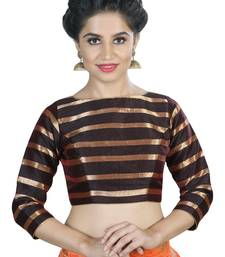 Women's Brown color Stripe Readymade Blouse