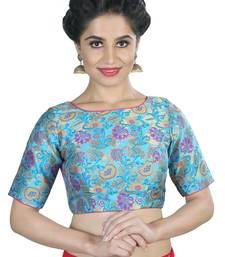 Women's Blue color Brocade Readymade Blouse