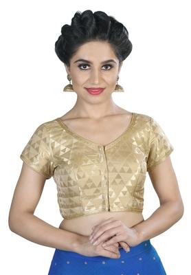 Women's Gold color Brocade Readymade Blouse