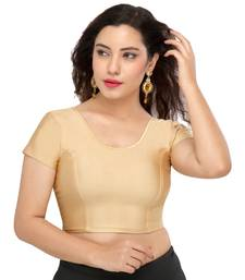 Women's gold Lycra Non Padded Stretchable Readymade Blouse