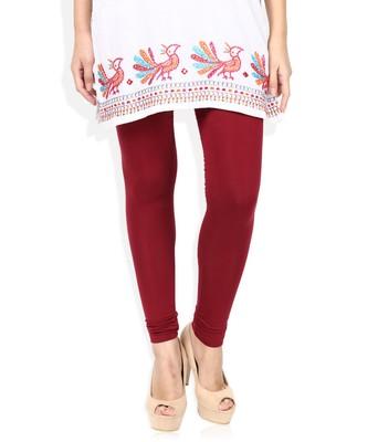 Brown Cotton Lycra plain Cotton Lycra leggings