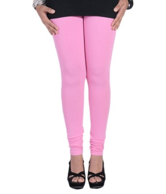 Pink Cotton Lycra plain Cotton Lycra leggings
