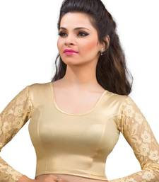 Buy Women's gold Shimmer Non Padded Stretchable Readymade Blouse readymade-blouse online