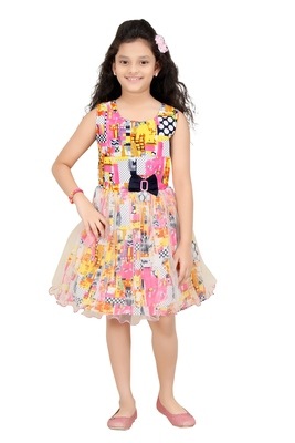 Trendy Girls Party Wear Cotton Frock