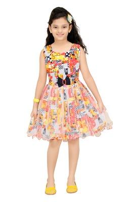 Trendy Girls Party Wear Cotton Frock