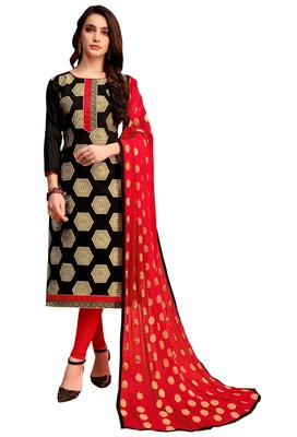 Black woven banarasi silk salwar with dupatta