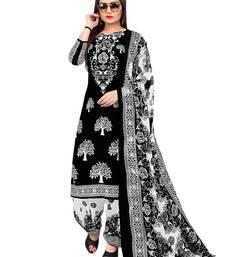 Black fancy crepe salwar with dupatta punjabi-suit