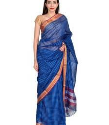 Buy Blue Puneri Saree Pune Silk Saree With Blouse printed-saree online