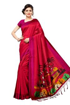 6091572f0a Maroon Color Sarees - Buy Maroon Saree online @ Best Prices