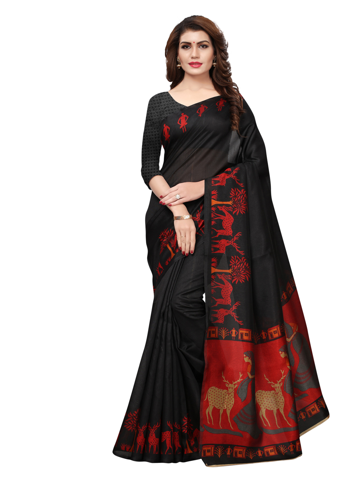 Black Sarees Buy Color Saree Online Best Prices Kemeja Row Hitam Shop At Velvet